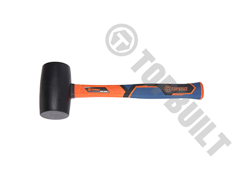 Black Rubber Mallet Fiberglass Handle