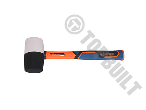 Black/White Rubber Mallet Fiberglass Handle